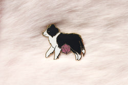 Border Collie D20 Dice Buddy Enamel Pin
