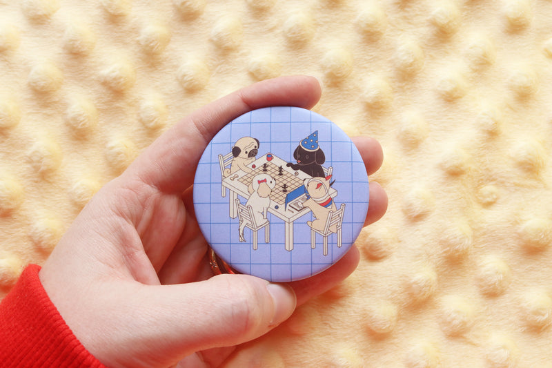 Dungeons and Dogs Button