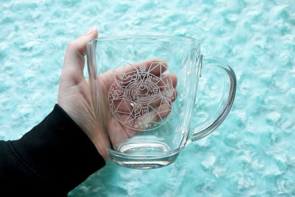 D20 Tea Party Glass Mug