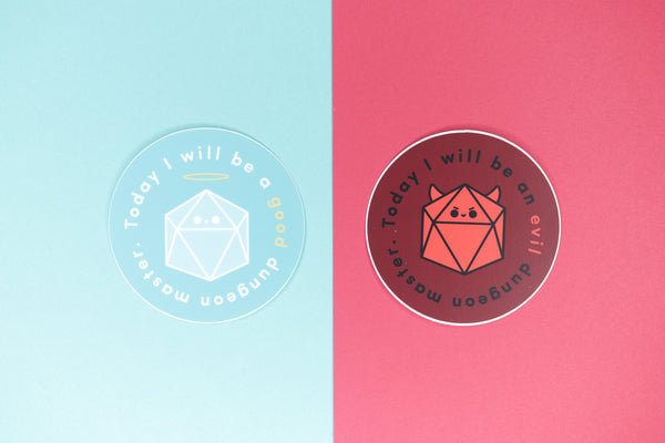 good and evil dm stickers