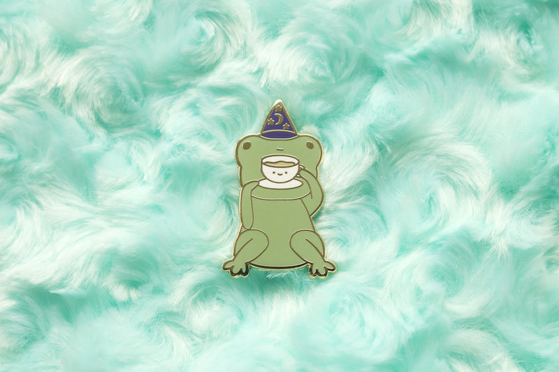 Tea Sipping Toad Hard Enamel Pin