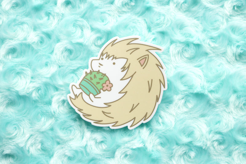 Cactus Hedgehog Sticker