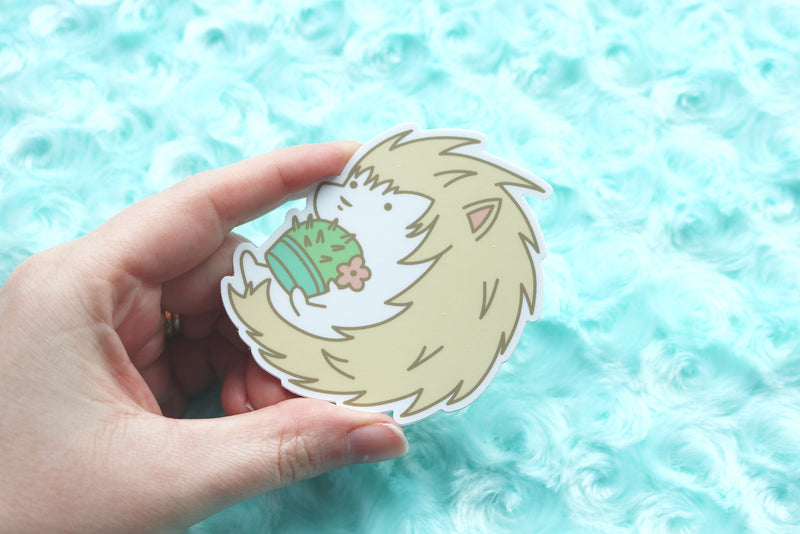 Holding Hedgehog Sticker