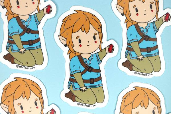 Five Breath of the Wild Link Stickers