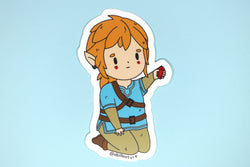 Legend of Zelda: Breath of the Wild Link Holding a Red Rupee Sticker