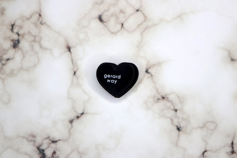 Gerard Way Heart Hard Enamel Pin