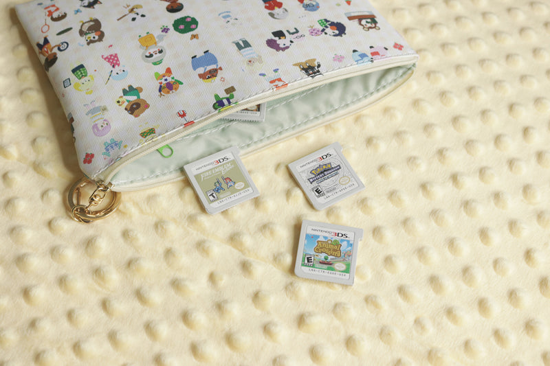 Animal Crossing Pouch with 3DS Game Cartridges