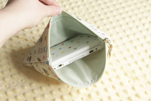 Interior View of Animal Crossing Pouch with 3DS Inside