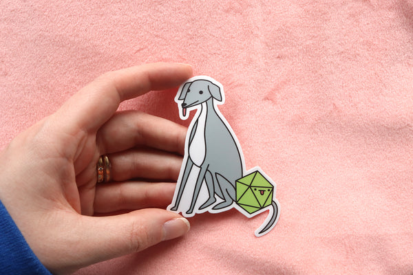 Italian Greyhound D20 Dice Buddy Stickers