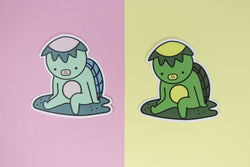 pastel pink and green kappa stickers