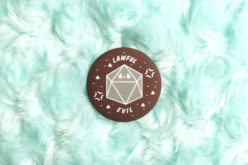 Lawful Evil DnD Alignment Button