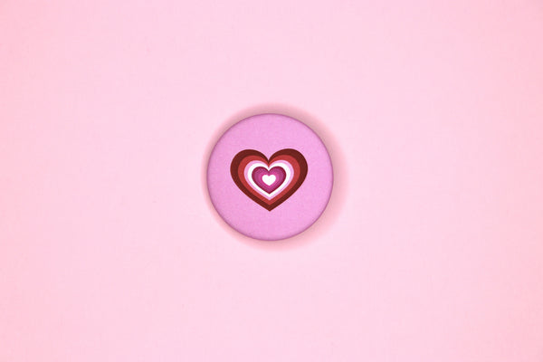 Lesbian Heart Button by Dbl Feeature
