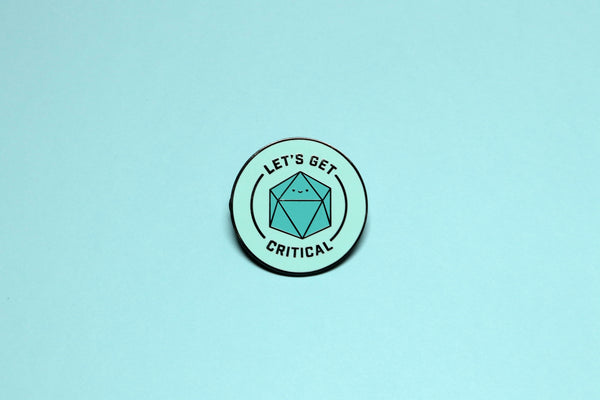 Let's Get Critical Hard Enamel Pin