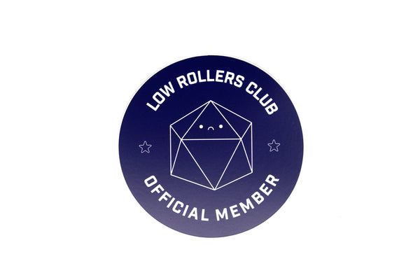 low rollers club official member sticker