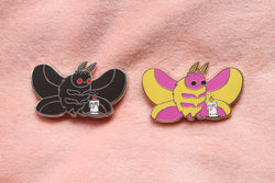Moth and Flame Hard Enamel Pin
