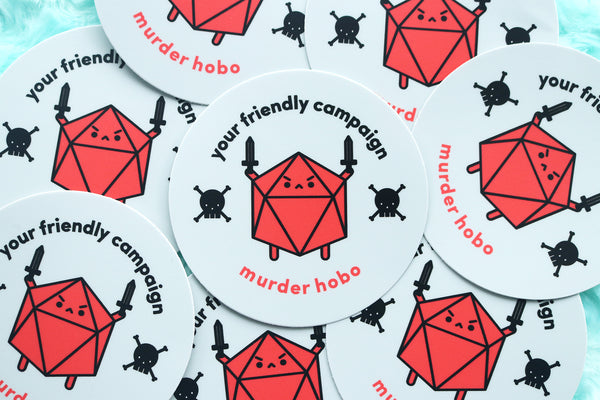 DnD Murder Hobo Stickers