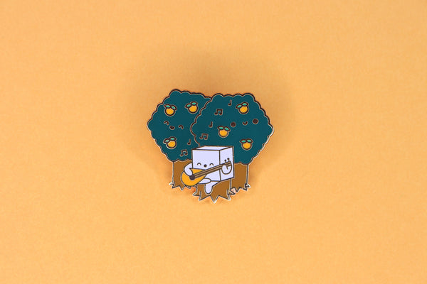 Orange DnD Bard Class Hard Enamel Pin