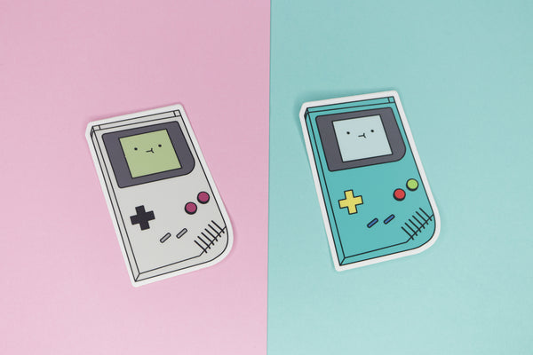 Original Nintendo Game Boy and Adventure Time BMO inspired stickers