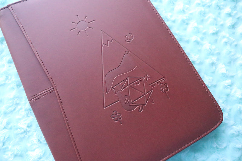 Adventuring D20 Dice Buddy Zippered Padfolio
