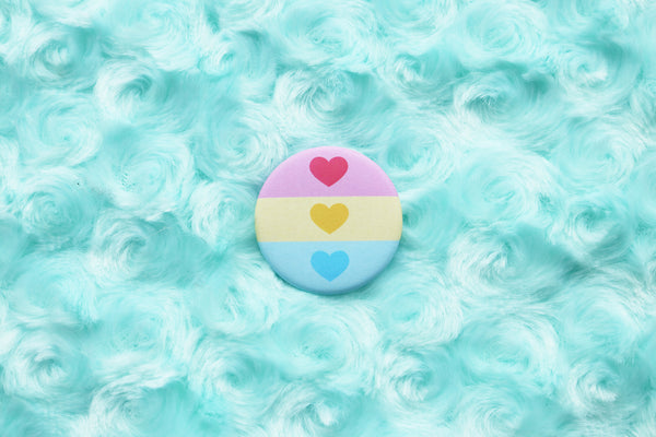 Cute Pansexual Flag Button