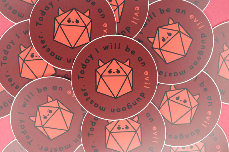 Pile of Evil DnD Dungeon Master Stickers