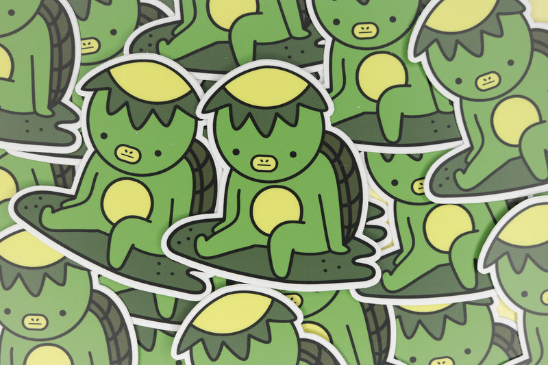 pile of green kappa stickers