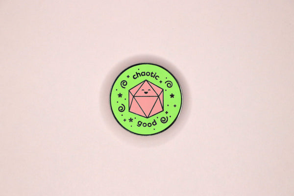 Green and Pink Chaotic Good Hard Enamel Pin