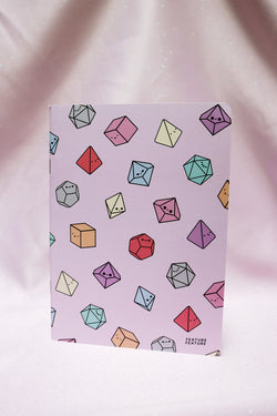 Pastel Tiny Dice Buddies Lined Notebooks
