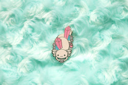 Crystal Axolotl Hard Enamel Pin