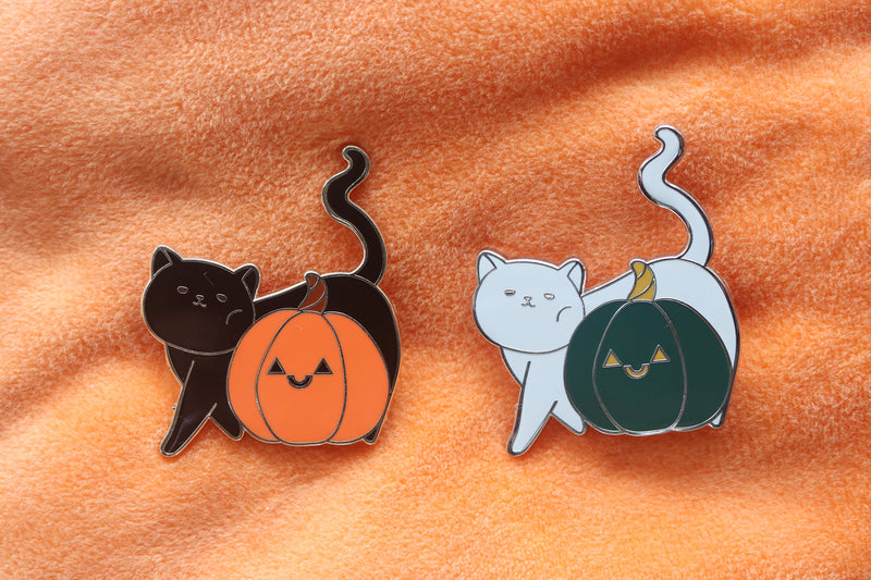 Pumpkin Patch Cat Hard Enamel Pin