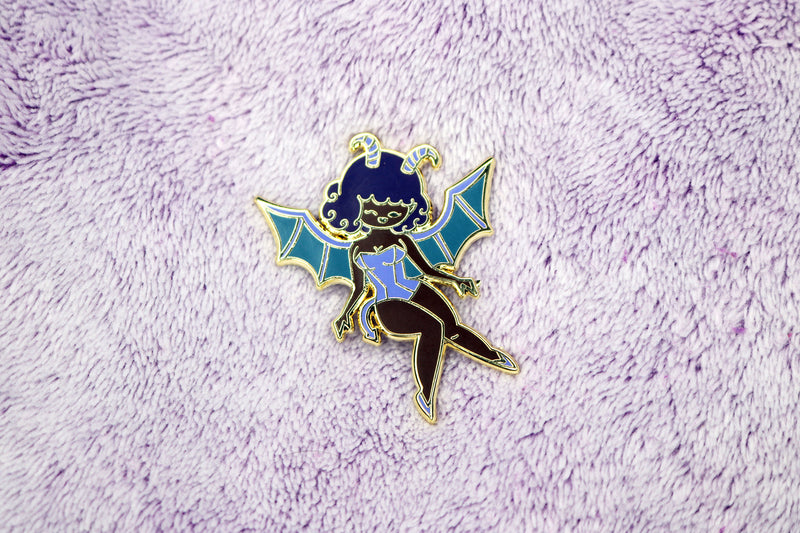 Purple Succubus Girl Hard Enamel Pin