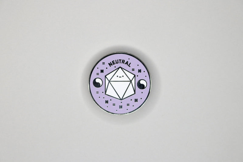 Purple True Neutral Alignment Hard Enamel Pin