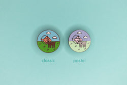 classic and pastel ranger hard enamel pins