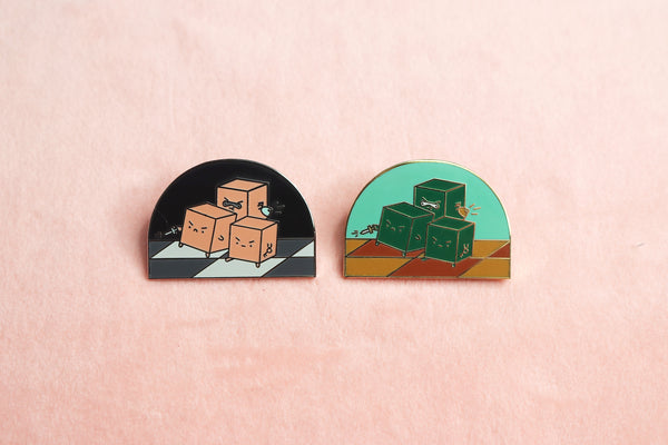 Day and Night Rogue Enamel Pins