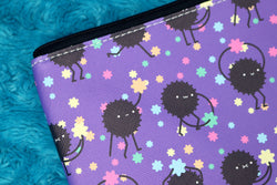 Detail of Soot Sprite Pouch Inspired by Studio Ghibli