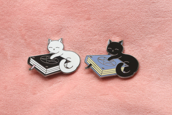Spell Book Kitty Hard Enamel Pin
