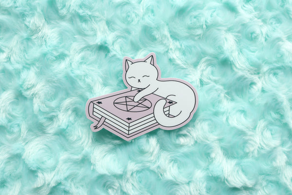 Spell Book Kitty Sticker