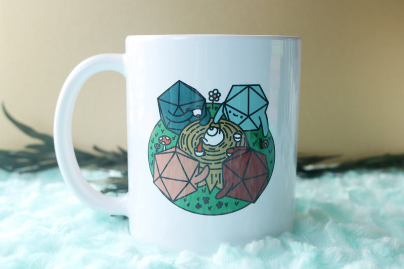 D20 Tea Party Ceramic Mug