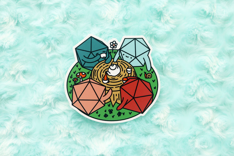 Tea Party D20 Sticker and Magnet