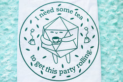 Tea Drinking D20 Tea Towel