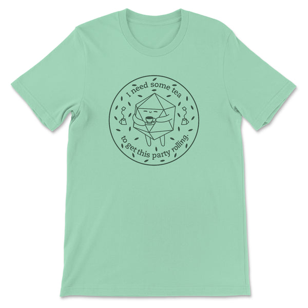 Tea Drinking D20 T-shirt