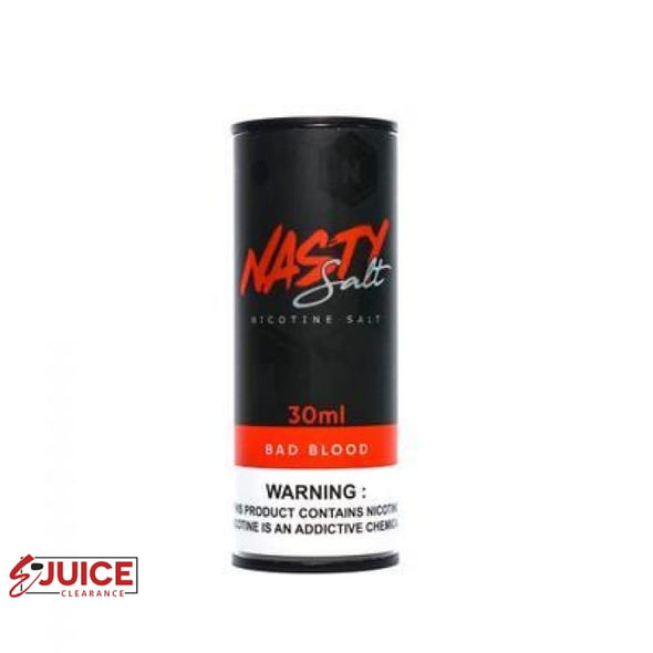 Bad Blood Salt - Nasty 30ml - E-Liquids | E-juice Clearance
