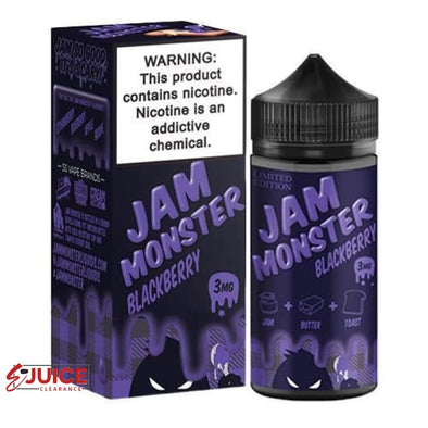 Blackberry - Jam Monster 100ml - E-Liquids | E-juice Clearance
