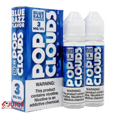 Blue Razz Candy - Pop Clouds E-Liquid 120ml - E-Liquids | E-juice Clearance