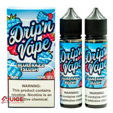 BLUE RAZZ SLUSH - Drip'n Vape 120ml - E-Liquids | E-juice Clearance