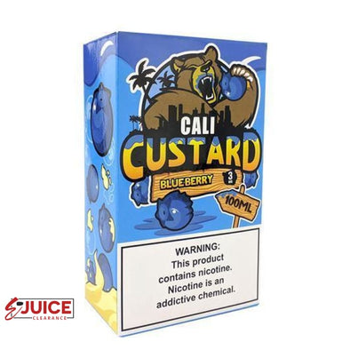Blueberry - Cali Custard 100ml - E-Liquids | E-juice Clearance