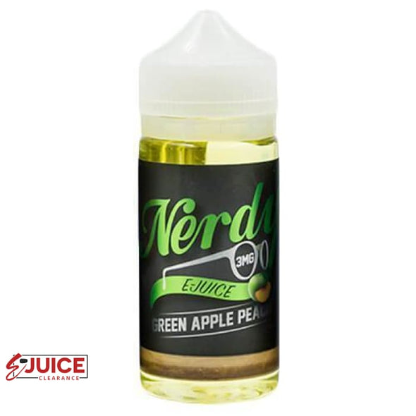 Green Apple Peach - Nerdy E-Juice 100ml - E-Liquids | E-juice Clearance