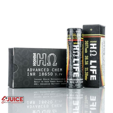 Hohm Tech Hohm Life 18650 3077 mAh 20.7A Battery - E-Liquids | E-juice Clearance