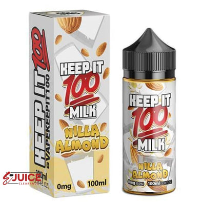 Nilla Almond - Keep It 100 E-Juice 100ml - E-Liquids | E-juice Clearance
