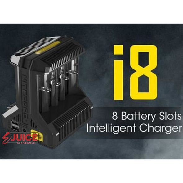 Nitecore i8 8-Bay Intelligent Battery Charger - E-Liquids | E-juice Clearance